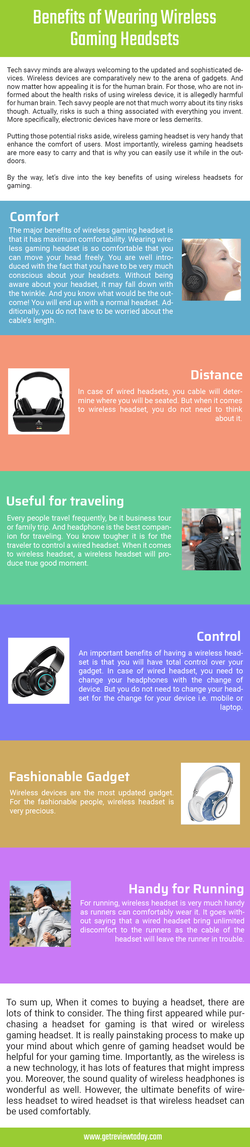 Infographic on Benefits of wearing wireless gaming headsets