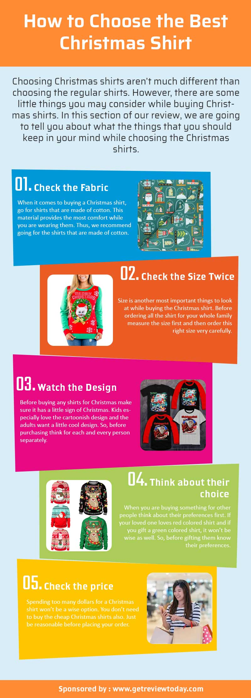 How to Choose the Best Christmas Shirts infographic