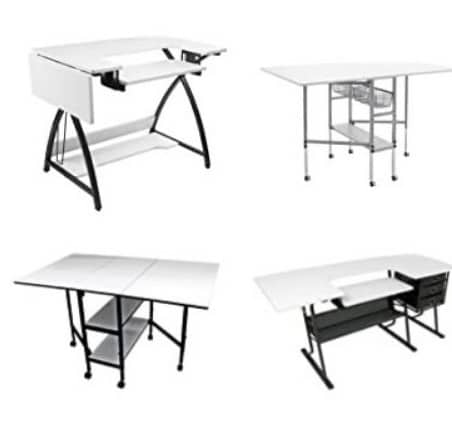 fabric cutting table with groove