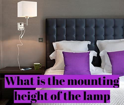 What is the mounting height of the lamp